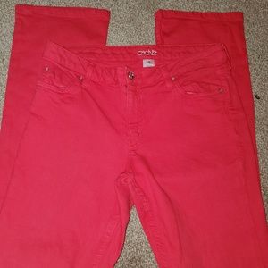 Womans Cache size 10 red Jean's. Awesome